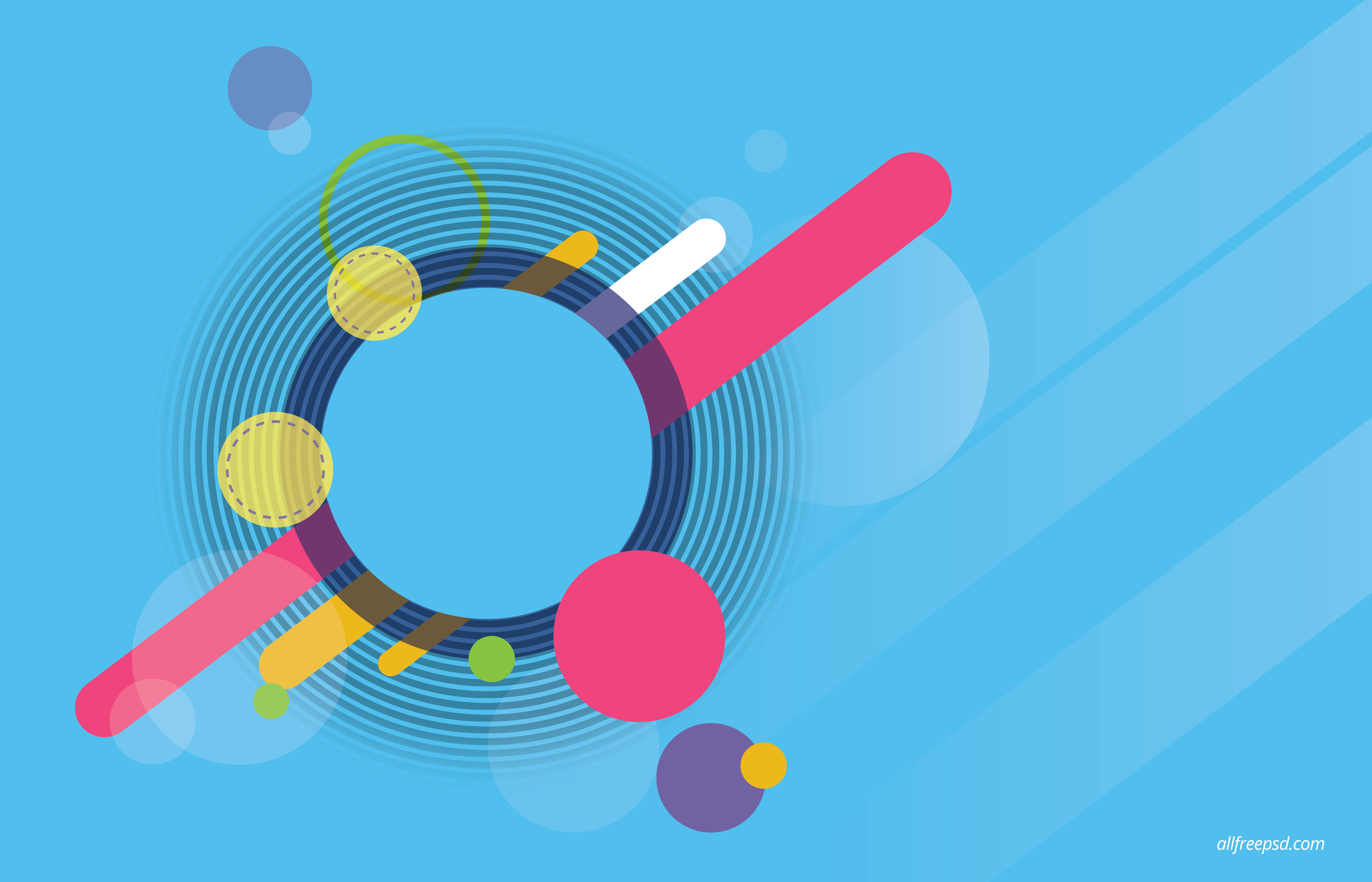 Abstract Blue Circle Background - Free psd and graphic designs