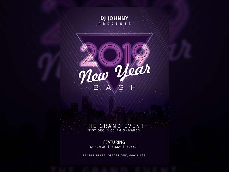 New Year Celebration Poster - Free psd and graphic designs