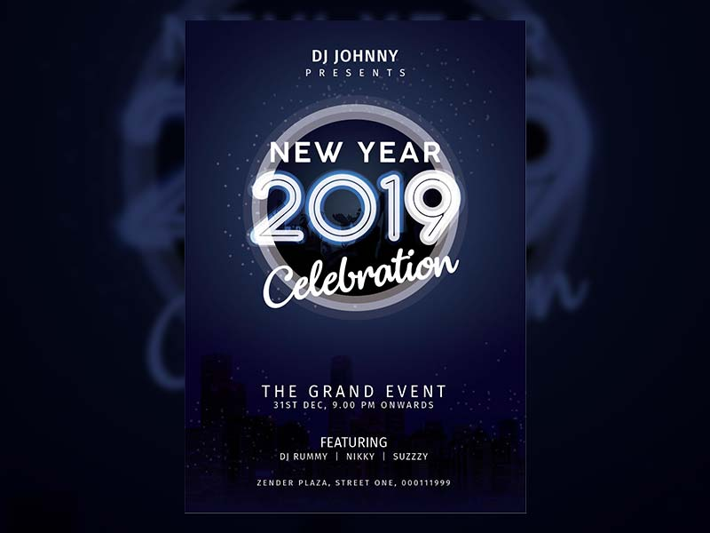 Happy New Year Event Poster - Free psd and graphic designs